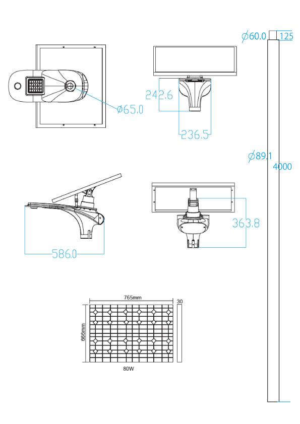 HOTARU-8020 照度図