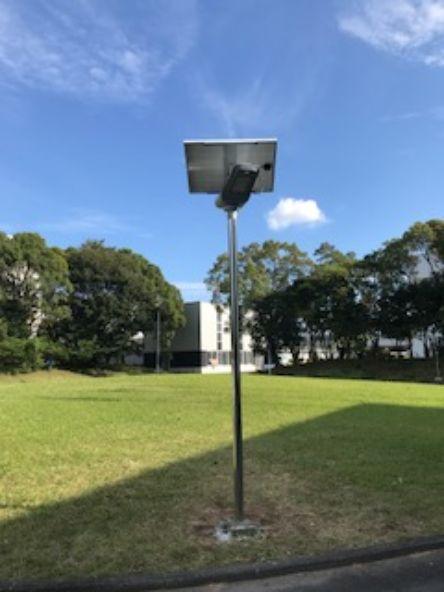 工場内にLEDソーラー街灯(街灯)・照明設置